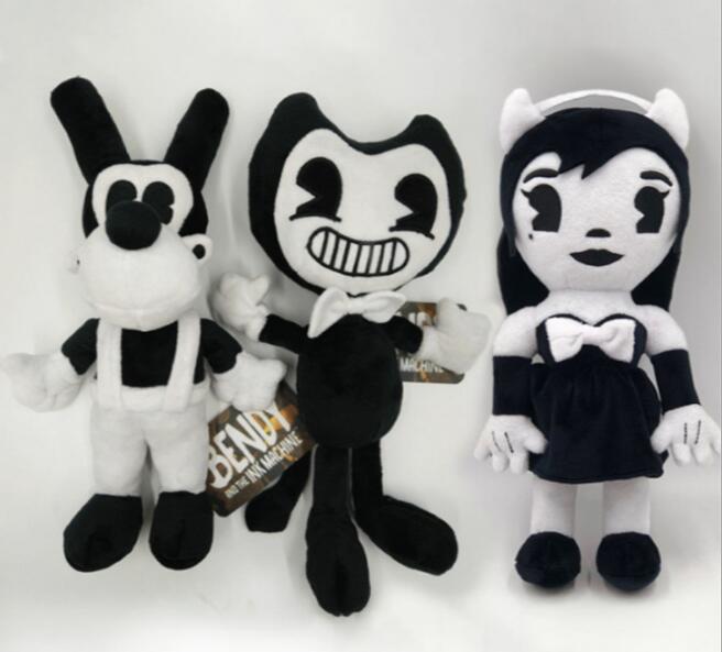 Animal de pelúcia dos desenhos animados brinquedos bandy & boris cão alice tamanho 30cm boneca de pelúcia macio crianças presente aniversário thriller jogo halloween