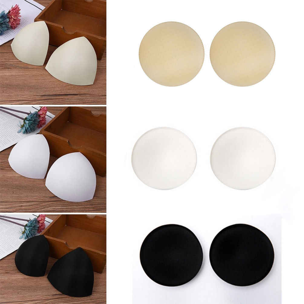 2019 Hot Selling Sweet Bra Cup Pads Insert Triangle Chest Breast Bikini Underwear Removable Bra Cup Pads Intimates Accessories