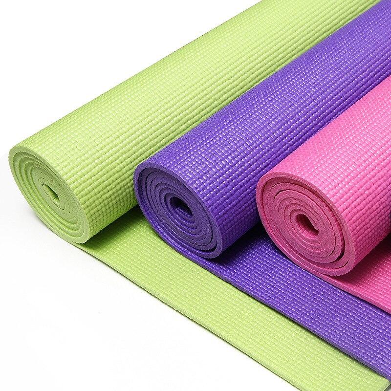 4 couleurs tapis de Yoga Pilates tapis d'exercice épais antidérapant pliant Gym tapis de Fitness fournitures antidérapant plancher corps-façonnage tapis de sport