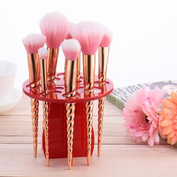 14 Holes Makeup Brush Holder profesional Stand make up brushes eyebrow eyeshadow stamp powder brush Cosmetic Drying Rack Shelf 4