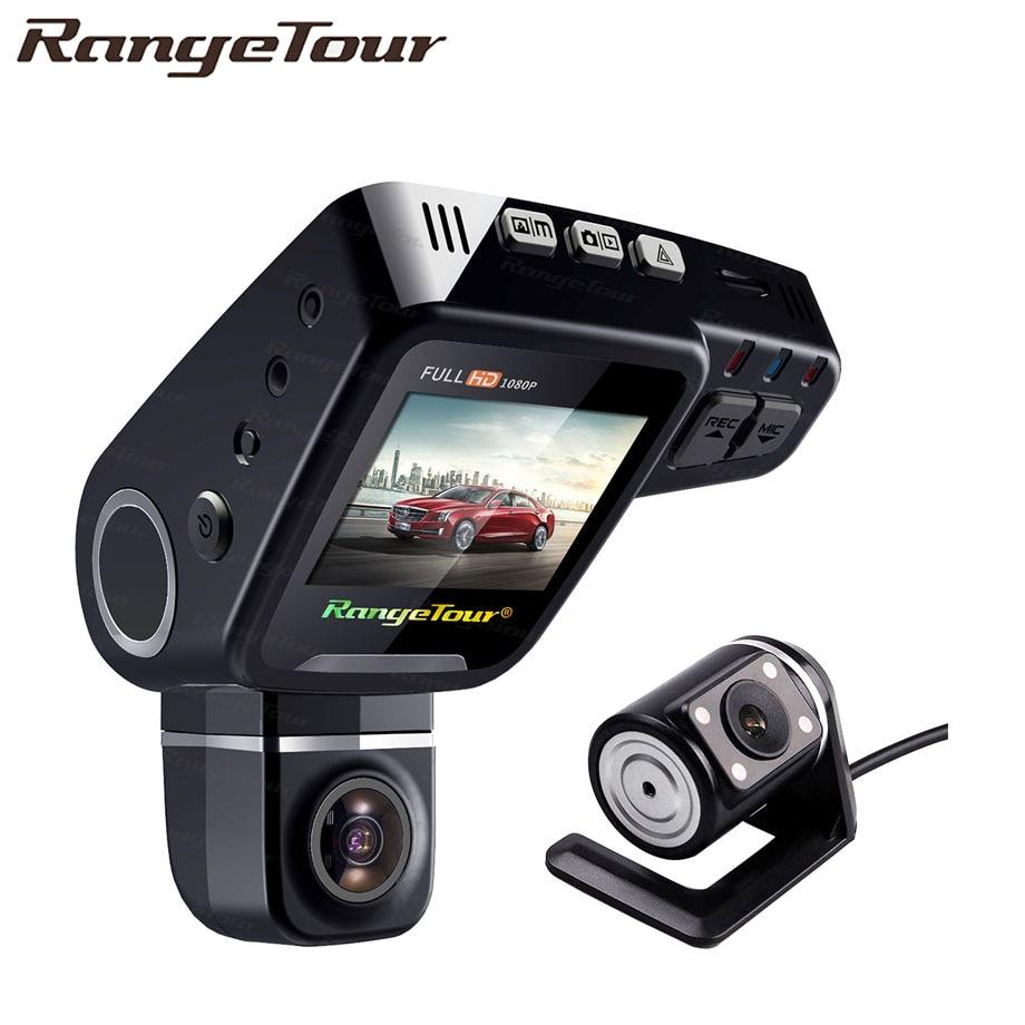 RangeTour C10s Plus Dual Lens Dash Cam FHD 1080P Video Recorder 360 Degree Rotatable Lens Car DVR Registrator Night Vision