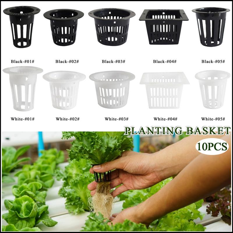 10pcs Inch Net Cup Basket Hydroponic System Garden Plant Grow Vegetable Cloning Seed Germinate Nursery Pots