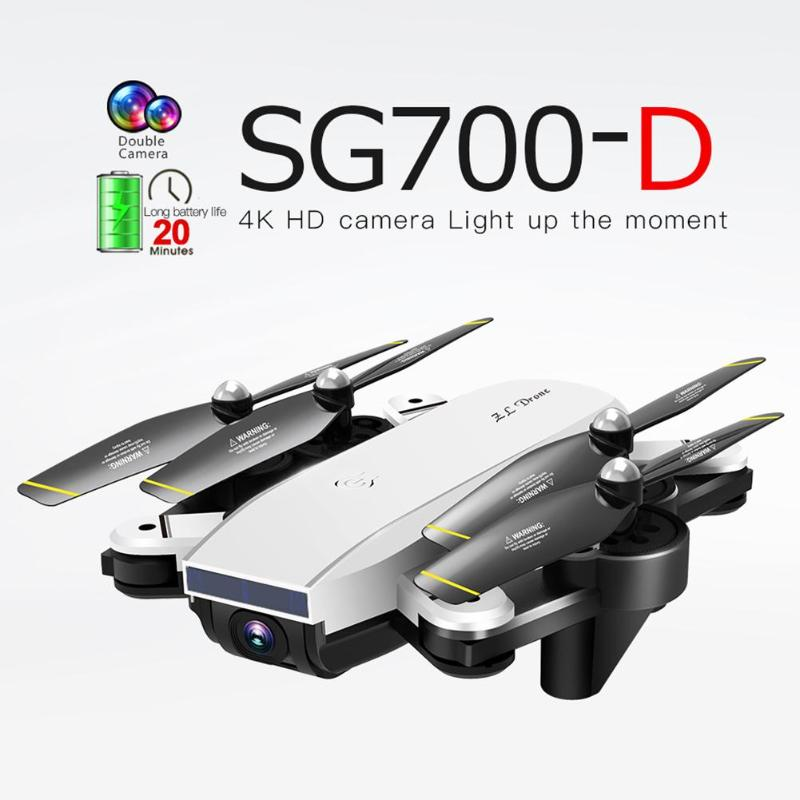 SG700 D WiFi FPV RC Drone Folding 4K 1080P HD Dual Camera Optical Flow Real Time