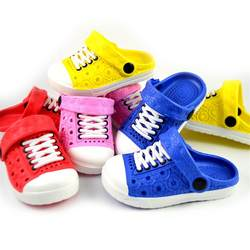 Унисекс Детские пляжные шлепанцы унисекс для маленьких мальчиков Сабо обувь сандалии для девочек садовые шлепанцы сопротивления для От 1