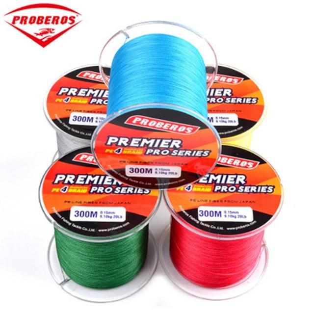Best Offers 300M PE Braided Fishing Line Premier Pro Series 0.4-10Code 6-100LB Fishing Braid Sturdy Fishing Leashes Rope Yellow Blue
