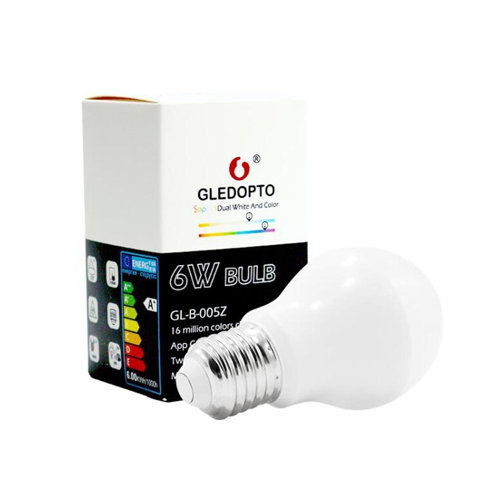 Купить с кэшбэком ZIGBEE Bulb E27 6W 12W E26 Lamp RGB Dual White Zigbee Smart Lamp App Control LED Light Bulb AC 110V 220V 230V Zigbee ZLL Link
