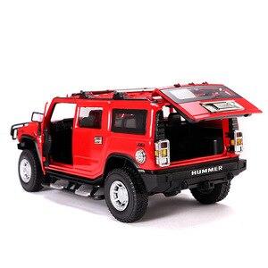 Image 2 - 2019 1:24 Hummer H2 Legering Model Diecast Metalen Auto Speelgoed Voor Kinderen Brinquedos Juguetes Oyuncak Dropshipping Hotwheelsing
