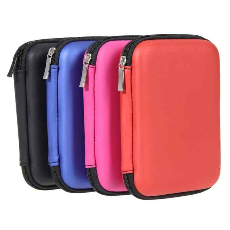 """Bolsa portátil 2,5 """"almacenamiento externo USB Unidad de disco duro HDD funda de transporte Cable multifunción bolsa de auriculares para PC portátil"""