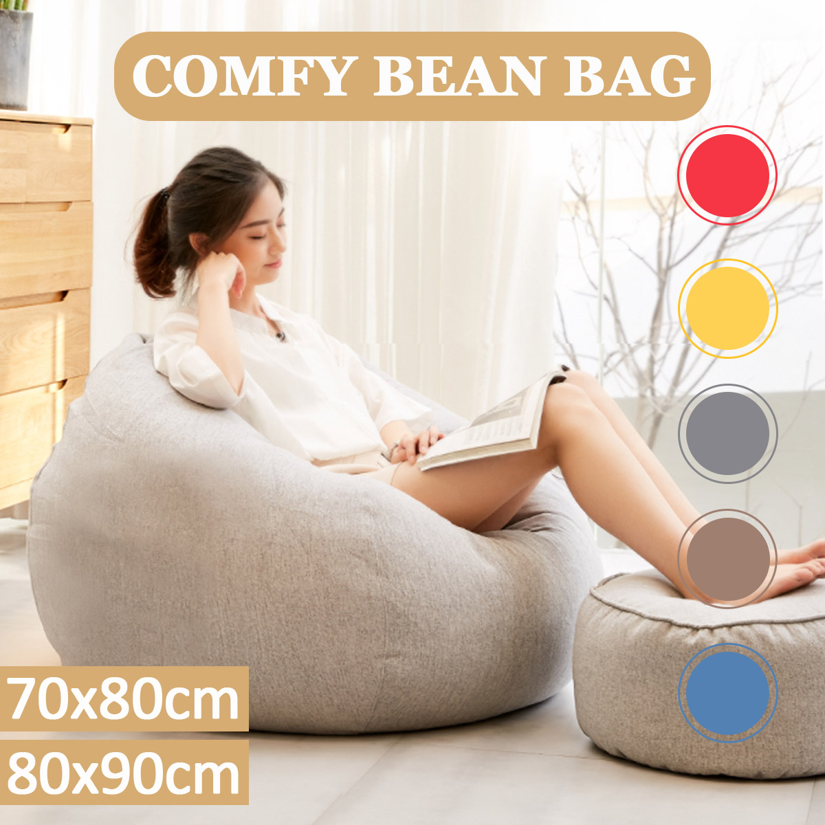 Enjoyable Large Adult Bean Bag Chair Inzonedesignstudio Interior Chair Design Inzonedesignstudiocom
