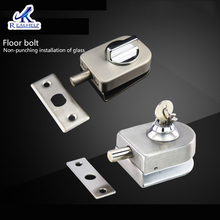 Floor latch of Glass door glass access control system set meal fingerprint lock fittings for special use thumb lock