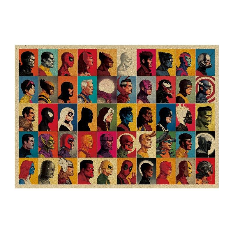 Новинка Marvel Iron Man Avengers 4, Винтажный Классический постер из крафт бумаги с фильмом MARVEL, домашний декор, художественные офисные и школьные принты в стиле ретро, игрушка для мальчиков|Игровые фигурки и трансформеры|   | АлиЭкспресс