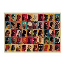 Nova marvel homem de ferro vingadores 4 papel kraft do vintage clássico filme marvel poster decoração de casa arte escritório escola retro cópias menino brinquedo
