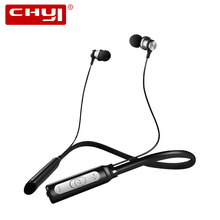 CHYI Magnetic Neckband Wireless Bluetooth Earphone Ergonomic BT4.1 In-ear Stereo Hifi IPX4 Headset With Mic Ear Hook For iPhone