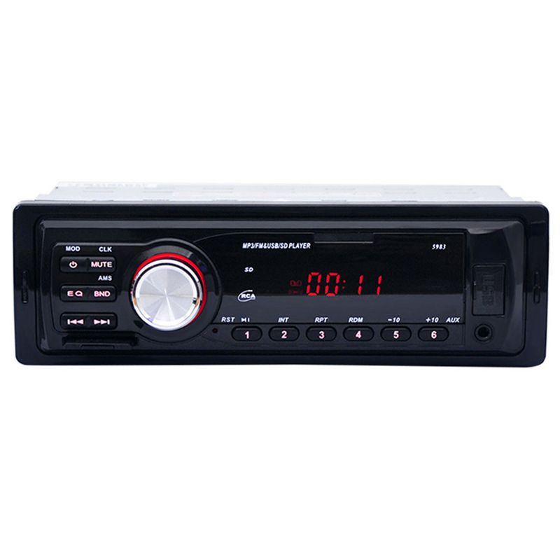 1Din Car Radio Auto Audio Stereo 12V Support FM SD AUX USB Interface In-Dash 1 Din Car MP3 Player Receiver Device Phone Charge image