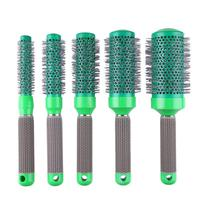 5pcs Boar Bristle Ionic Round Comb Set Barber Curly Hair Blowing Brushes