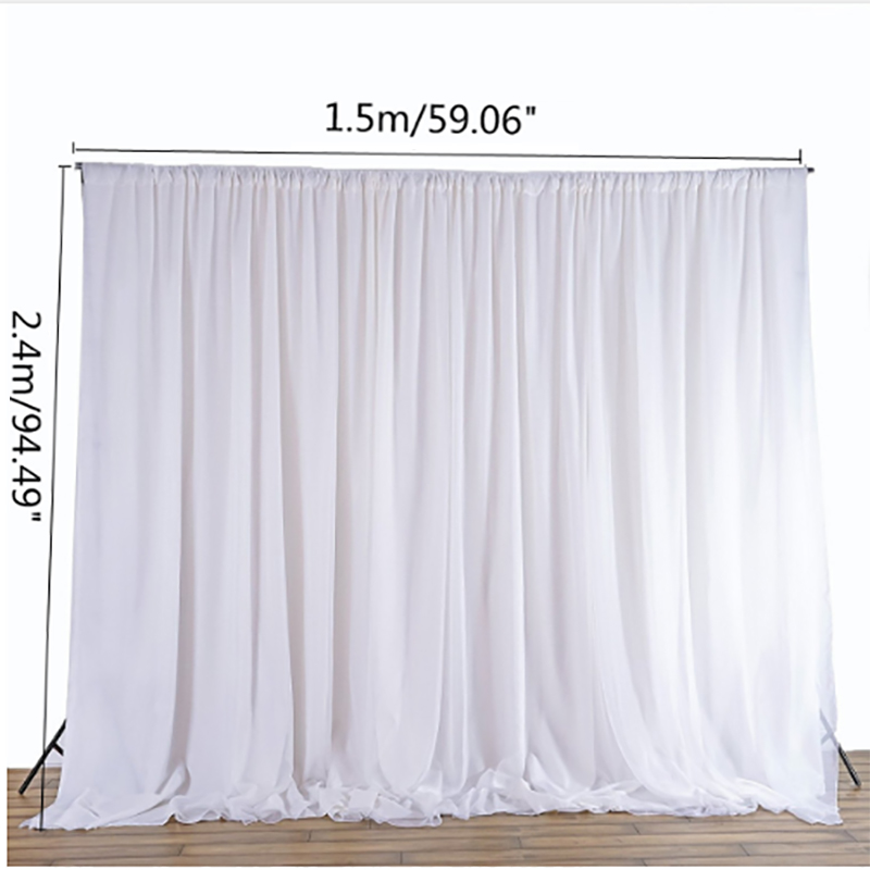 White Sheer Silk Cloth D Panels Hanging Curtains Photo Backdrop Wedding Party Events Diy Decoration Textiles 2 4x1 5m In Backdrops From Home