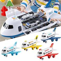 Children's Toys Large Collapsible Aircraft Model Inertial Music Simulation Aircraft Kids Boys Toy Car Model Inertia Simulation