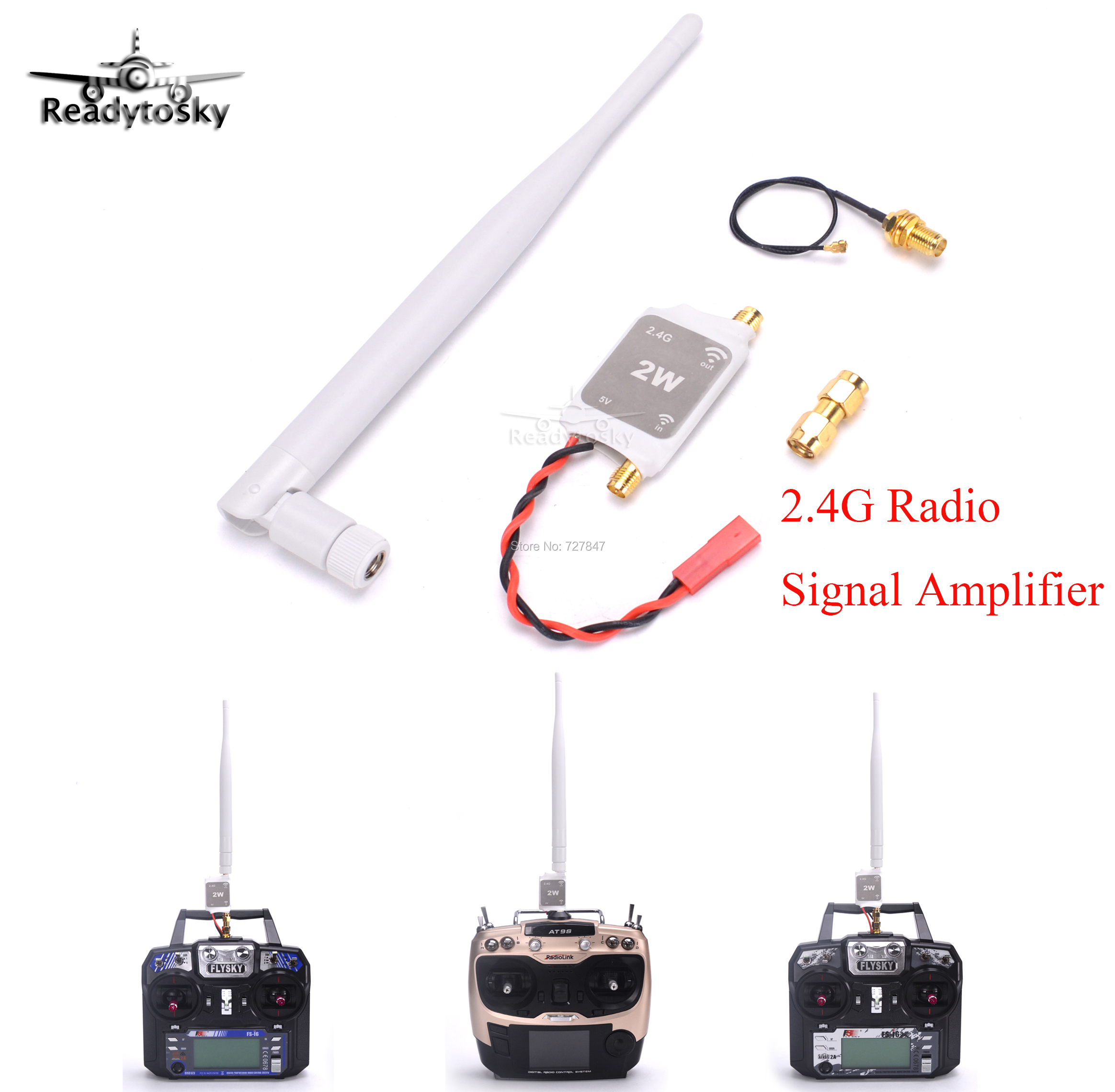 2.4G Radio Signal Amplifier Signal Booster For RC Quadcopter Multicopter Drone For Flysky Radiolink 2.4G Remote Control