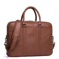 Мужские деловые портфели высокой емкости, мужские сумки на одно плечо из 100% натуральной кожи, Мужская портативная Офисная Рабочая Сумка bolso
