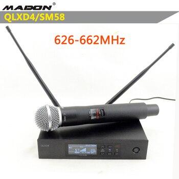 Free Shipping , QLXD4/SM-58  626-662MHz shurewireless microphone ,UHF wireless microphone