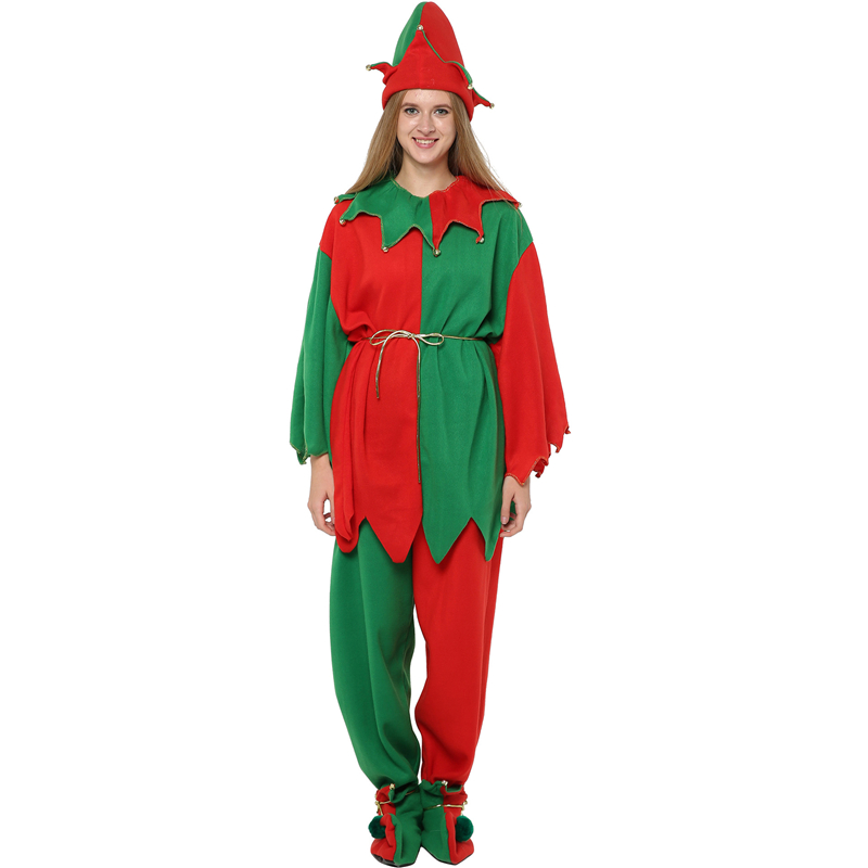 Deluxe Christmas Costume Woman Christmas Elf Costume Cosplay Adult
