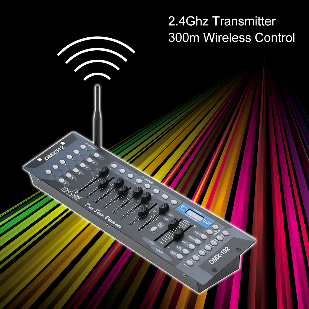 New Style 192 Channels Stage Light DMX 512 Wireless Controller Console with Transmitter Party DJ Disco