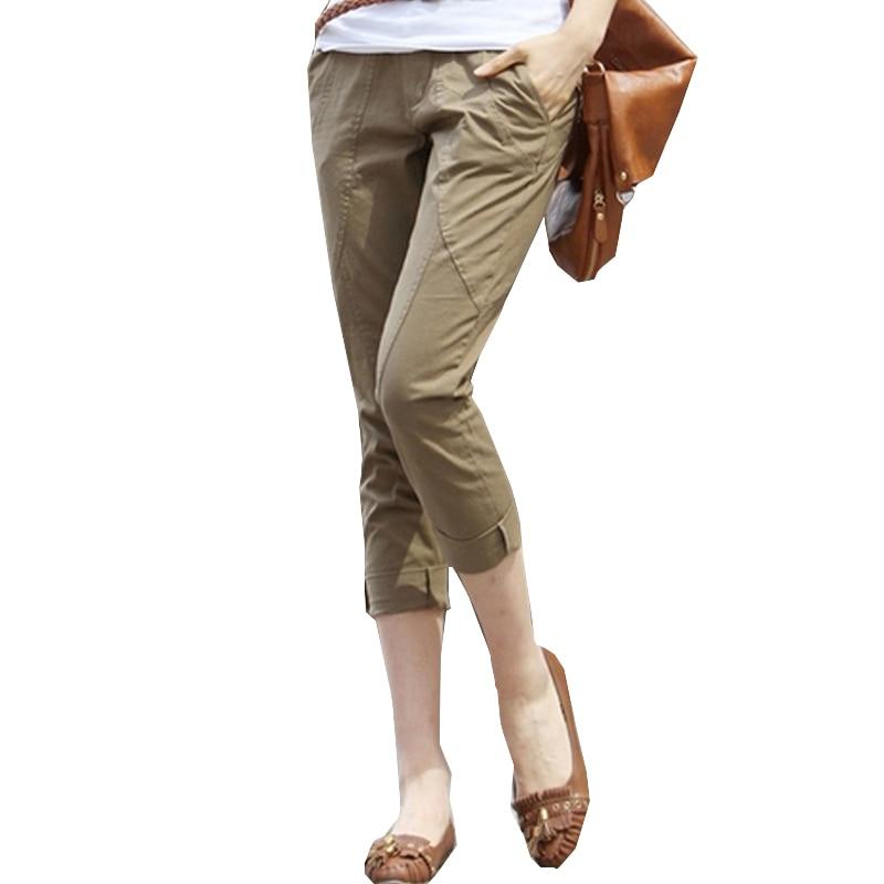Women's Harem Pants Capris Female 2020 New Fashion Elegant Loose Mid Waist Pants Plus Size 3XL Summer Casual Calf-Length Pants