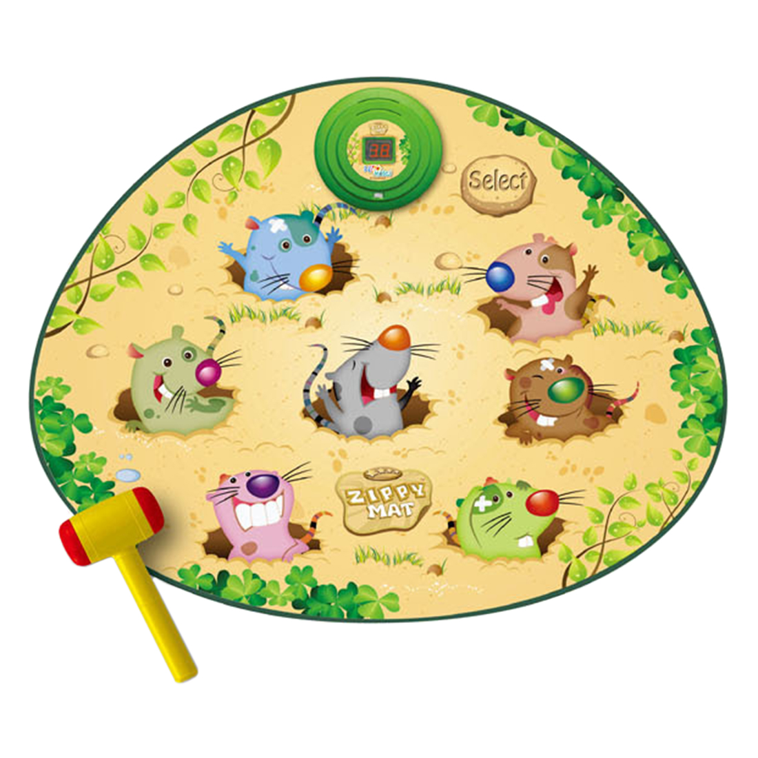 Baby Play Mat Toys Whac-A-Mole Game CP Musical Mat Early Educational Toys For Baby Playing Musical Game Kit 2019