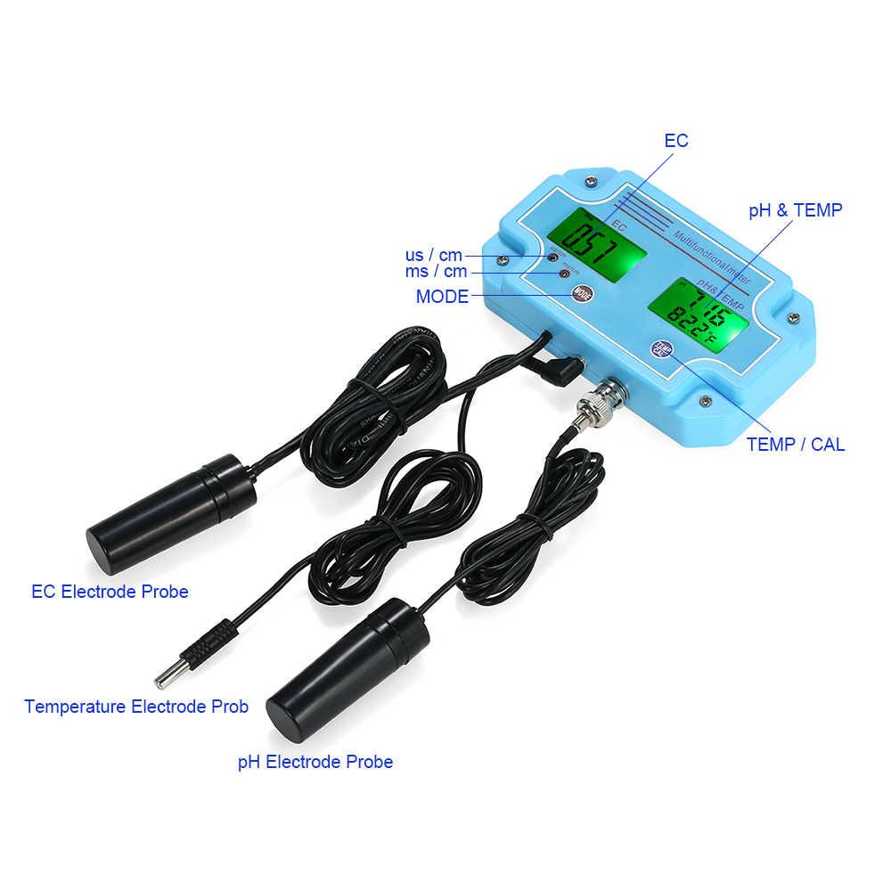 Метр Датчик влажности цифровой ЖК-дисплей Tri-Meter Multi-function контроль качества воды Multiparameter тестер качества воды