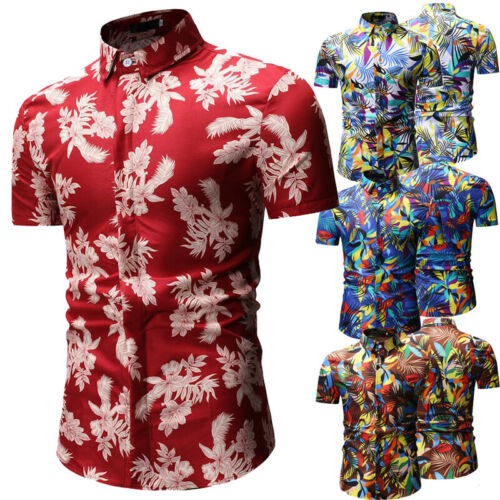 100% QualitäT 2019 Neue Mode Hot Hawaiian Shirt Herren Allover Ozean Scenic Camp Party Aloha Urlaub Strand Urlaub