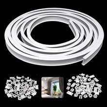 1m Flexible Ceiling Mounted Curtain Track Rail Straight Slide Windows Balcony Curtain Accessories Decoration Top/Side Clamping(China)