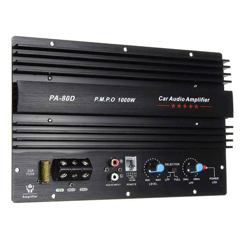 12 V 1000 W моно автомобильный аудио усилитель мощности мощный бас сабвуферный усилитель PA80D