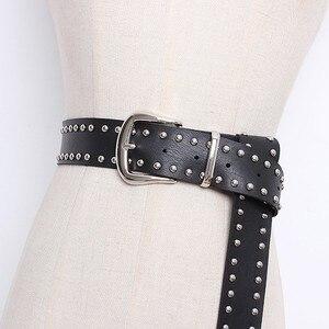 Image 3 - CHICEVER nit PU skórzane pasy dla kobiet czarny ze sprzączką pasek damski spodnie damskie akcesoria jesień koreański moda fala 2020