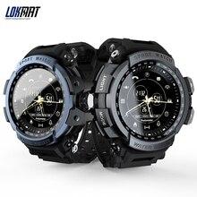 Умные часы LOKMAT MK28, 1,14 дюйма, экран BT4.0, водонепроницаемый, шагомер, счетчик калорий, будильник, спортивные мужские Смарт часы для Android / iOS