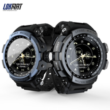 LOKMAT MK28 inteligentny zegarek 1.14 calowy ekran BT4.0 życie wodoodporny krokomierz kalorie Alarm sport mężczyźni smartwatch dla androida/iOS