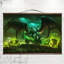 poster for World of Warcrafts lllidan Stormrage canvas prints posters decoration painting with solid wood hanging scroll
