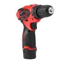 1pcs Cordless Hammer Drill Kit 12V Cordless Drill Driver Li Ion Rechargeable Battery Screwdriver Tool Kit