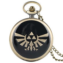 Quartz Pocket Watch Eetro for Women Men Theme Patterns of Zelda Legend Pocket Watches Unique Dropping Glue Pendant Watch цена