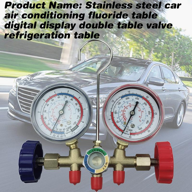 Image 3 - Car Home Air Conditioning Fluoride Pressure Gauge Double Meters Inverter Digital Display Valve Refrigeration Meter-in Air-conditioning Installation from Automobiles & Motorcycles