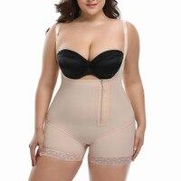 Women Seamless Firm Control Shapewear Faja Open Bust Bodysuit Body Shaper Underwear Waist Shaper Shapewear Postpartum Recovery