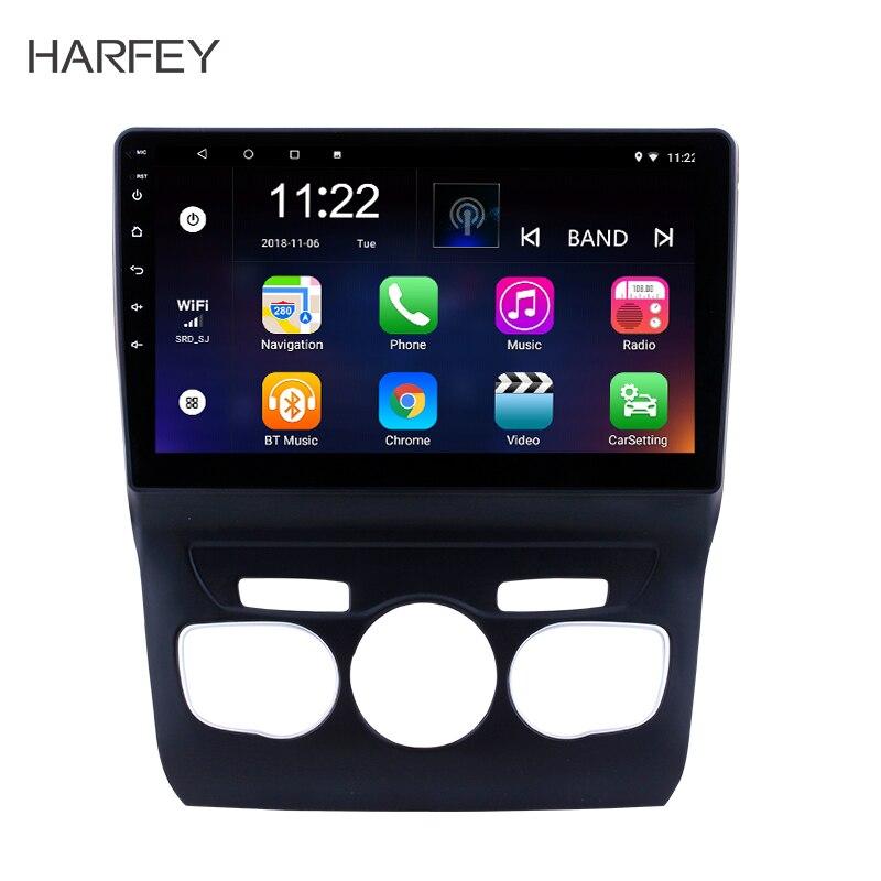 Harfey Android 7.1/8.1 10.1 GPS autoradio lecteur multimédia Pour 2013 2014 2015 2016 Citroen C4 Tête Unité Soutien WIFI OBDII DVR