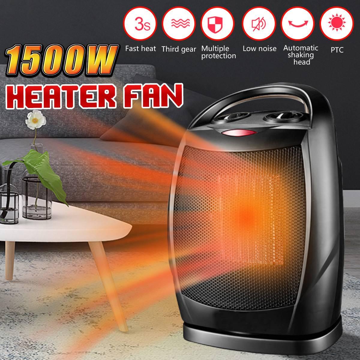 1500W Electric Heater Mini Fan Heater Handy PTC Heating Stove Radiator Desktop Home Office Winter Warmer1500W Electric Heater Mini Fan Heater Handy PTC Heating Stove Radiator Desktop Home Office Winter Warmer