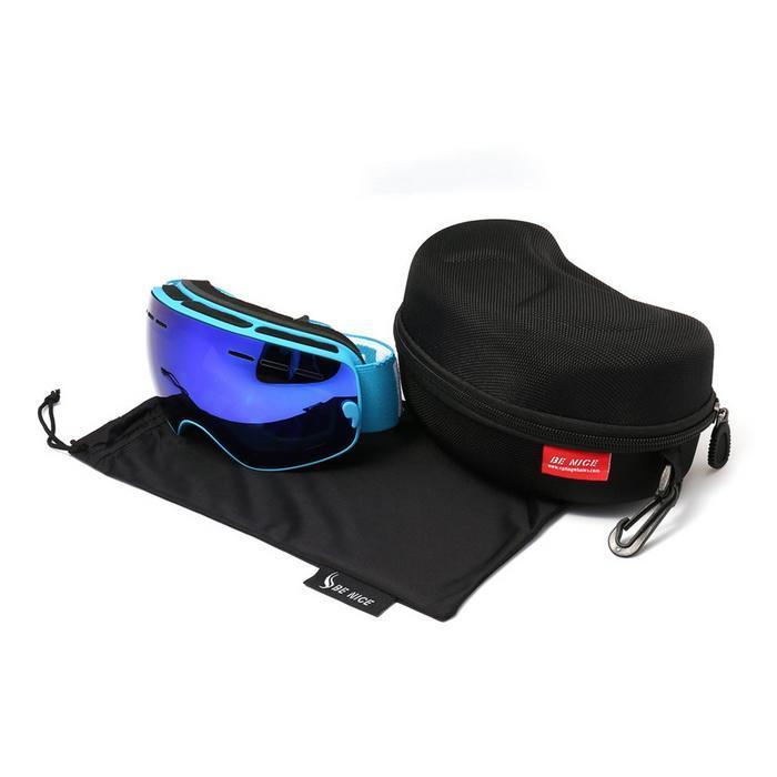Lunettes de Ski de neige durables pour enfants avec sac PE Double lentille Anti-buée masque coupe-vent lunettes chaudes enfant hiver Ski passe-temps cadeau - 5