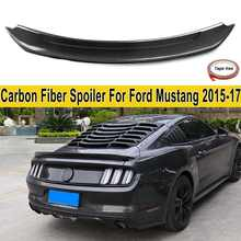Real Carbon Fiber Material Rear Trunk Spoiler Wing for Ford for Mustang 2015-2018 Auto Racing Car Styling Tail Lip Wing(China)