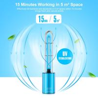 UV Air Sanitizer Ozone UV Sterilization Lamp Germ Light for Car Household Wardrobe Toilet Pet Area USB Rechargable Germicidal