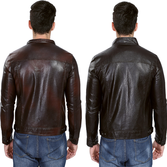 Motorcycle Leather Jacket Men 2019 Autumn Winter Men's Leather Jacket jaqueta de couro masculina Mens leather Jackets Coats 5XL