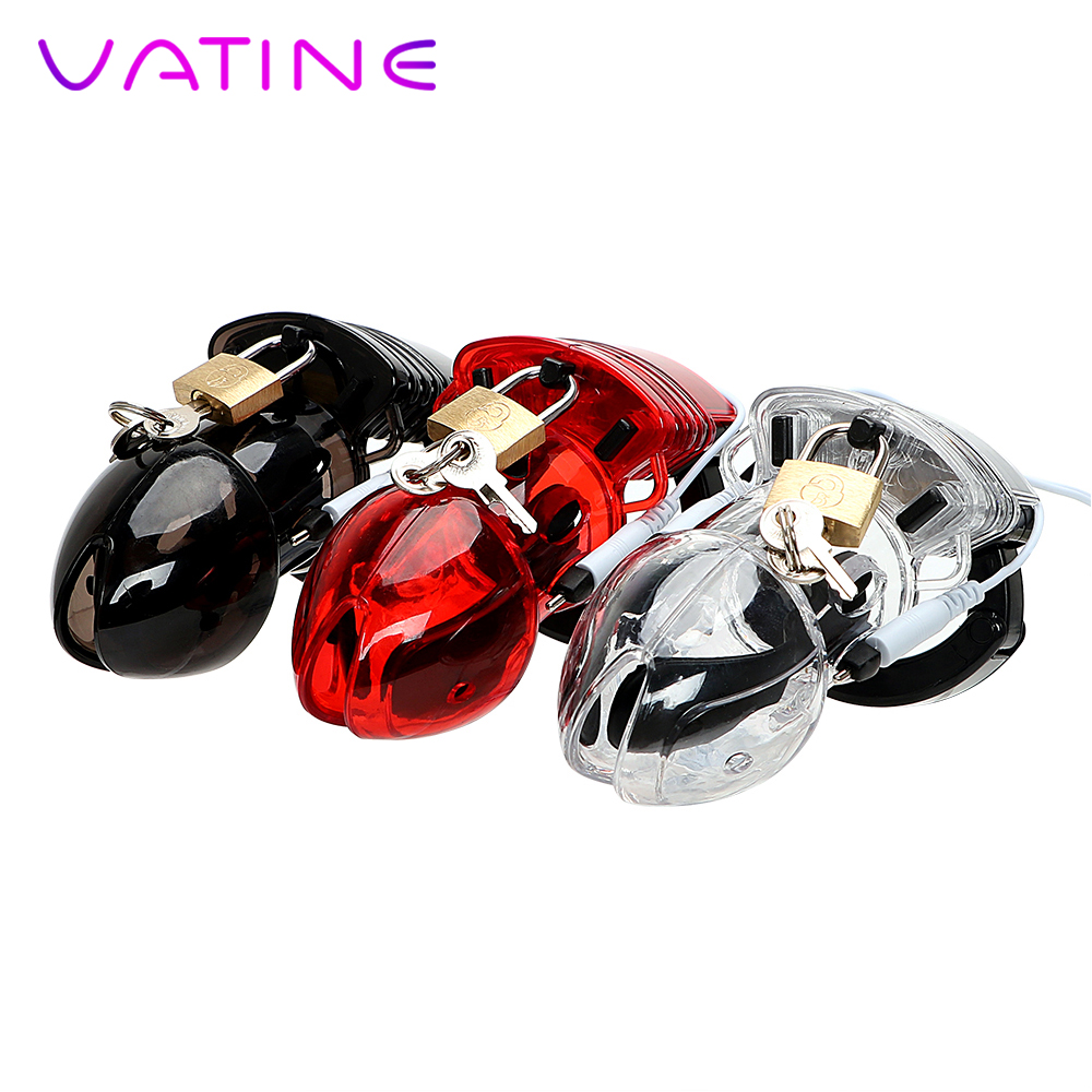VATINE Dildos Cage Electric Shock Erotic Male Chastity Device Medical Themed Toys Sex Toys for Men Penis Cock CageVATINE Dildos Cage Electric Shock Erotic Male Chastity Device Medical Themed Toys Sex Toys for Men Penis Cock Cage