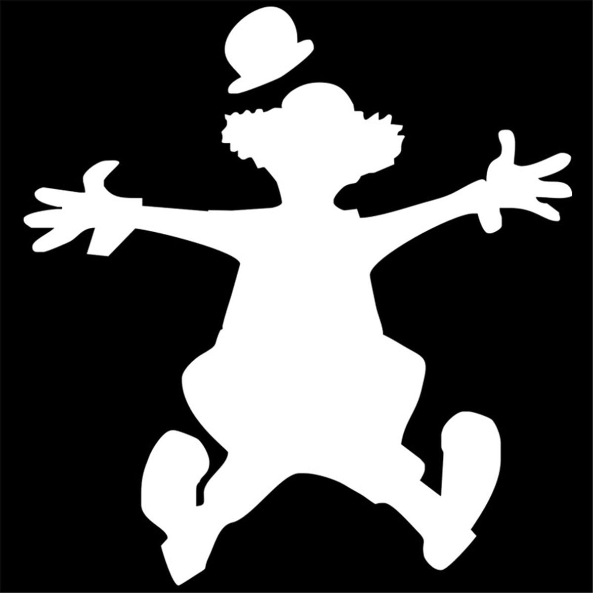 Jumping Clown Funny Sticker Car Window Door Laptop Vinyl Decal  Wall Home Decor