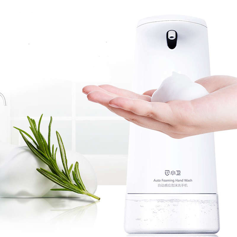 Xiaowei Intelligent Auto Soap Dispenser Foaming Hand Washing Machine White Touchless Infrared Sensor Soap Accessories