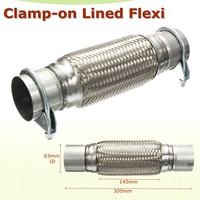 2.5 x 12 63x 300mm Stainless Steel Flex Exhaust Clamp on Flexi Tube Joint Flexible Pipe